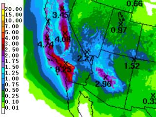 Western states get heavy rain, thanks to El Niño
