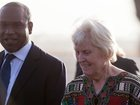 Woman let go by al-Qaida arrives in Burkina Faso