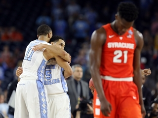 UNC fans celebrate after big Tar Heels win