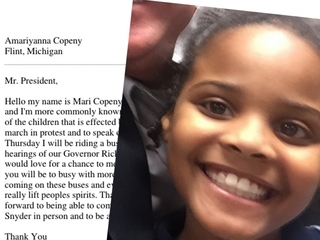 Girl's note encourages Obama to visit Flint