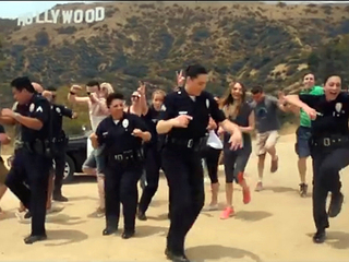 Police officers take part in viral dance craze