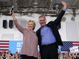 Hillary Clinton introduces Kaine as running mate