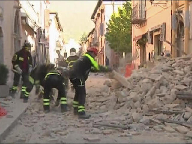 7.1 magnitude quake  strikes central Italy