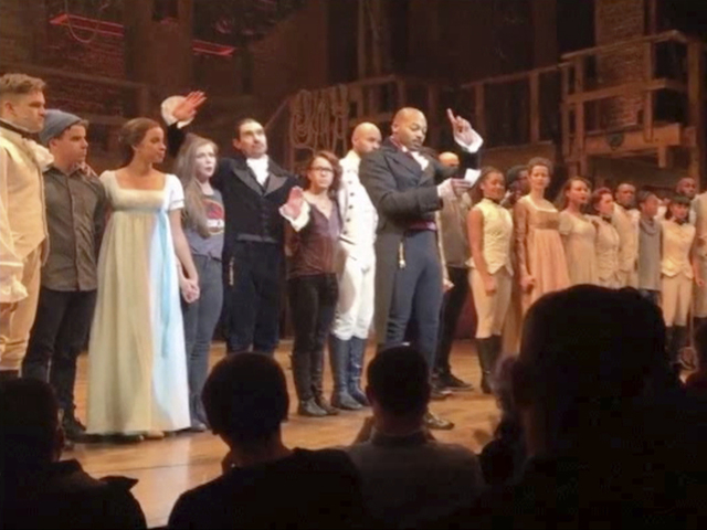 rude Hamilton cast harassed Pence