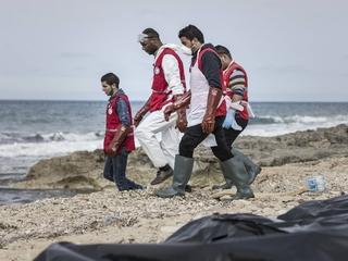 Dozens of bodies wash up on Libyan shore