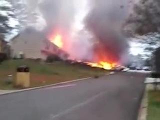 Video: Airplane crashes into Georgia home