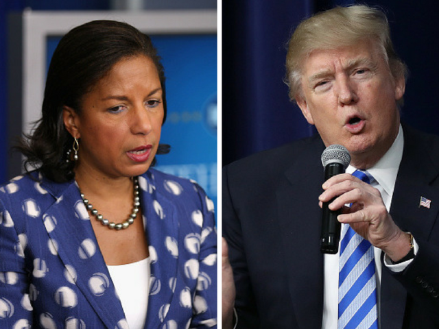 President Trump tells reporters he thinks Susan Rice committed a crime