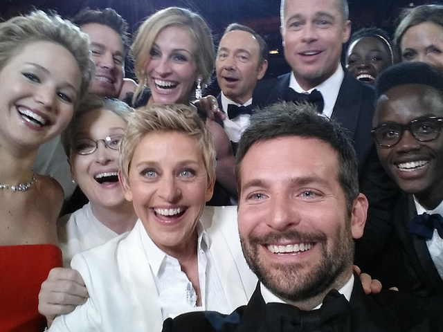 Ellen DeGeneres, Bradley Cooper Create PSA to Protect Oscar-Night Twitter Record
