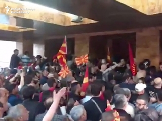 Protesters storm Macedonian parliament