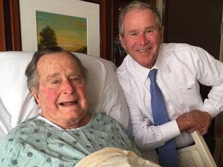 President George H.W. Bush out of hospital