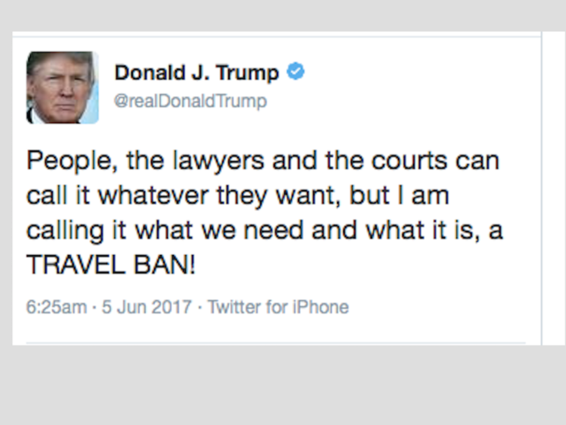 Trump Hits Justice for Submitting 'Watered Down' Version to Supreme Court