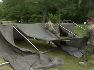 Canada builds tents for Haitian asylum-seekers