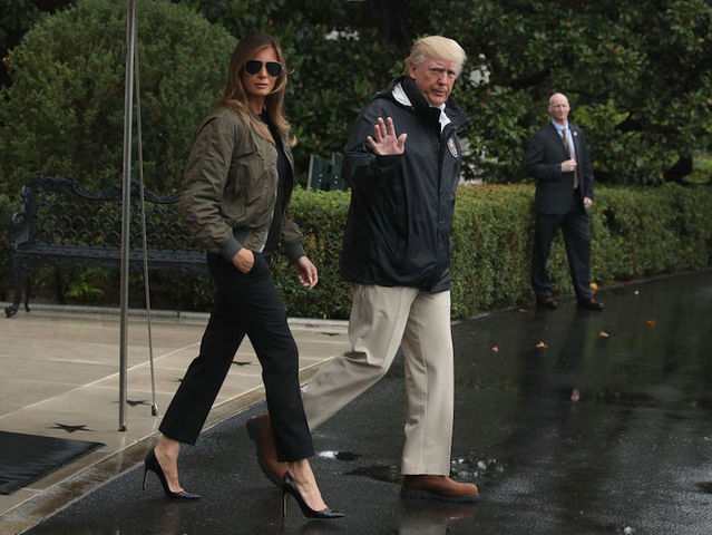 First lady Melania Trump offers support following Hurricane Harvey visit