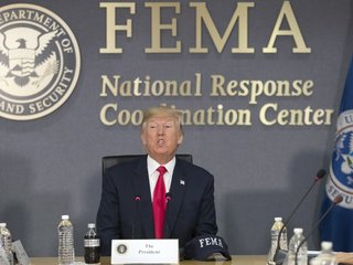 Trump to give $1 million for Hurricane Harvey
