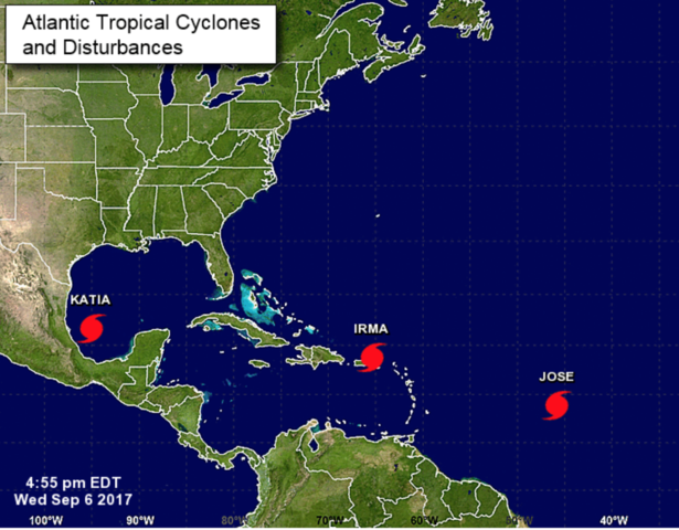 There are 3 tropical systems in the Atlantic right now