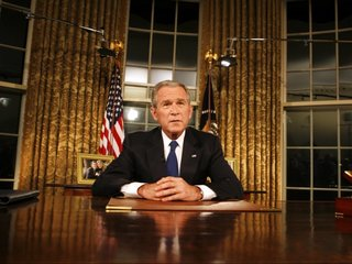 Bush gives speech touching on democracy and race