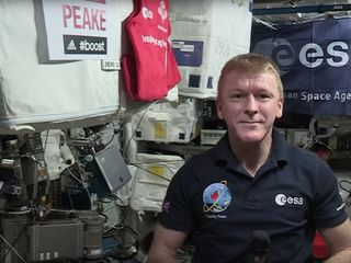 Tim Peak ran the London Marathon from space