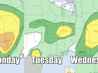 Severe weather marching through U.S. this week