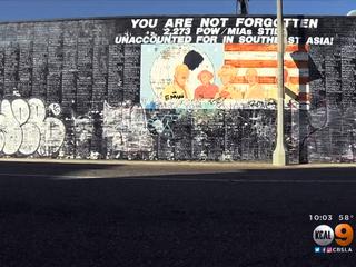 War memorial covered up after graffiti vandalism