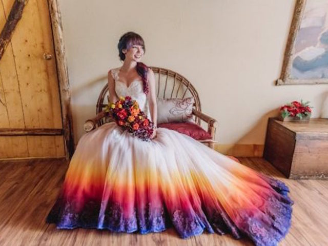 Colorful Dip Dyed Wedding Dresses Are The Latest Bridal Trend