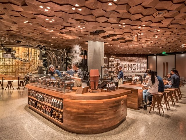 Starbucks Roastery in Shanghai hits new high in glossy retail theater