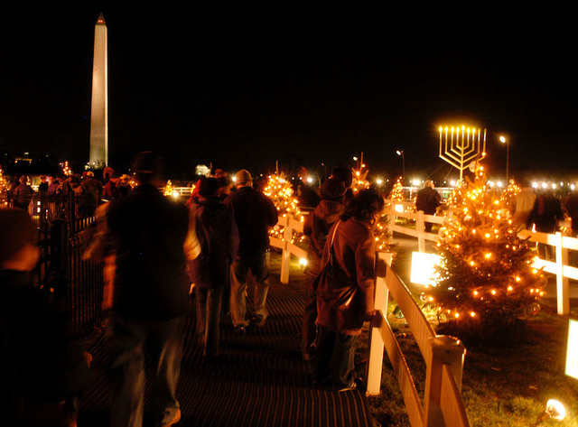 washington dc residents celebrate christmas and the 6th night of chanukah in 2003 - Bakersfield Christmas Town