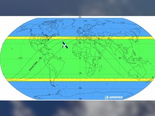 No one knows where falling satellite will land