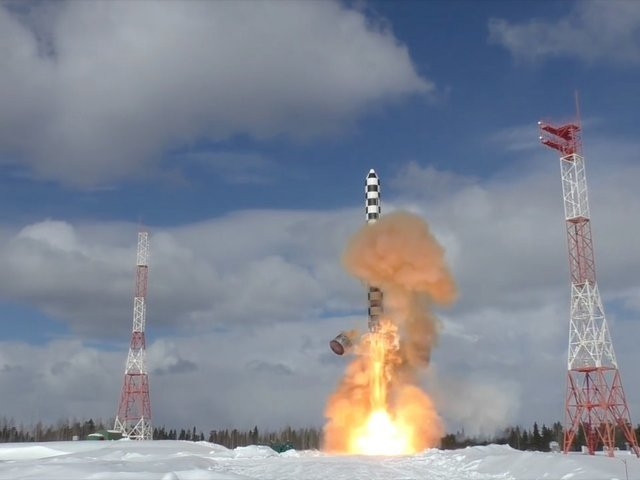 Russian MoD: Drop Test of Newest Heavy ICMB Successfully Conducted