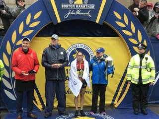 Desiree Linden makes history at Boston Marathon