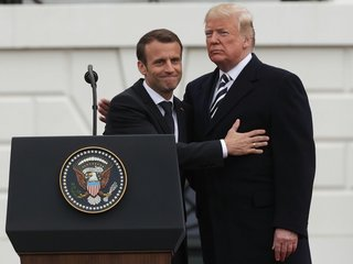 Macron lobbies Trump to stay in Iran deal
