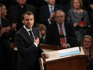 Macron speaks before Congress