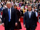 Trump, Moon discuss planned North Korea summit