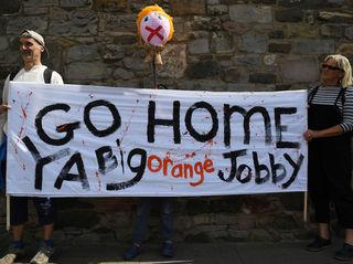 Photos: Scotland protests Trump's visit