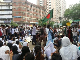 Women's impact on student protests in Bangladesh
